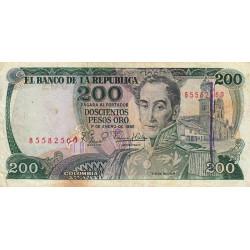 Colombie - Pick 427 - 200 pesos oro - 1982 - Etat : TB-