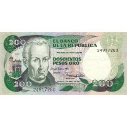 Colombie - Pick 428 - 200 pesos oro - 01/04/1983 - Etat : TTB