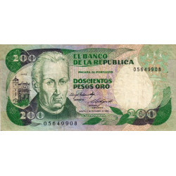 Colombie - Pick 429b1 - 200 pesos oro - 01/11/1984 - Etat : TB+