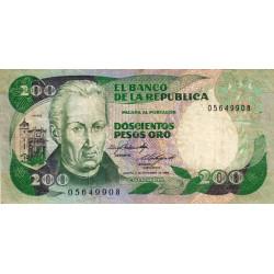 Colombie - Pick 429b_1 - 200 pesos oro - 1984 - Etat : TB+