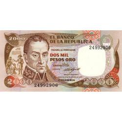 Colombie - Pick 430c - 2'000 pesos oro - 17/12/1985 - Etat : NEUF