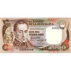 Colombie - Pick 430d - 2'000 pesos oro - 17/12/1986 - Etat : NEUF