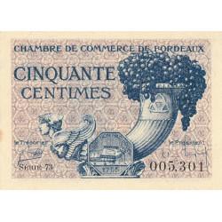 Bordeaux - Pirot 30-28 - 50 centimes - Série 73 - 1921 - Etat : SPL