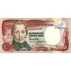 Colombie - Pick 431_2 - 500 pesos oro - 12/10/1987 - Etat : NEUF