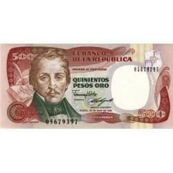 Colombie - Pick 431_3 - 500 pesos oro - 20/07/1989 - Etat : NEUF