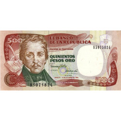 Colombie - Pick 431_4 - 500 pesos oro - 12/10/1990 - Etat : SPL
