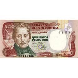 Colombie - Pick 431A_2 - 500 pesos oro - 1993 - Etat : SPL