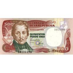 Colombie - Pick 431A2 - 500 pesos oro - 04/01/1993 - Etat : NEUF