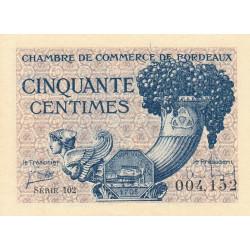 Bordeaux - Pirot 30-28 - 50 centimes - Série 102 - 1921 - Etat : SPL