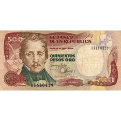 Colombie - Pick 431A_2 - 500 pesos oro - 04/01/1993 - Etat : TB-