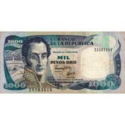 Colombie - Pick 432A1 - 1'000 pesos oro - 01/01/1992 - Etat : TB