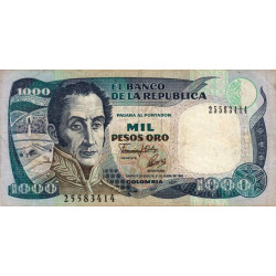 Colombie - Pick 432A_1 - 1'000 pesos oro - 1992 - Etat : TB
