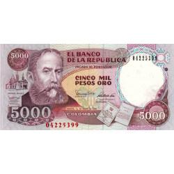 Colombie - Pick 436 - 5'000 pesos oro - 01/01/1990 - Etat : NEUF