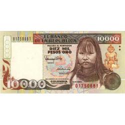 Colombie - Pick 437 - 10'000 pesos oro - Commémoratif - 1992 - Etat : NEUF