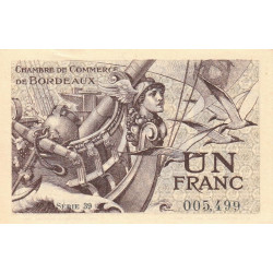 Bordeaux - Pirot 30-30 - 1 franc- Série 39 - 1921 - Etat : SPL