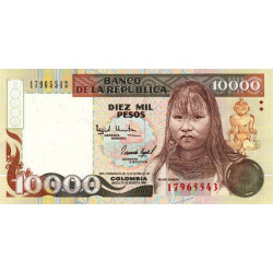 Colombie - Pick 437A_1 - 10'000 pesos oro - Commémoratif - 1993 - Etat : NEUF