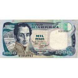Colombie - Pick 438_5 - 1'000 pesos - 02/10/1995 - Etat : TB+