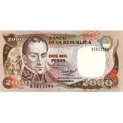 Colombie - Pick 439a - 2'000 pesos - 01/07/1993 - Etat : NEUF