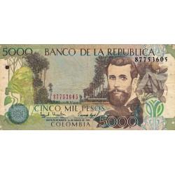 Colombie - Pick 441_1 - 5'000 pesos - 01/03/1995 - Etat : TB-