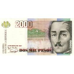 Colombie - Pick 445b - 2'000 pesos - 1997 - Etat : NEUF
