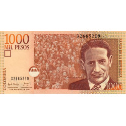 Colombie - Pick 450a - 1'000 pesos - 07/08/2001 - Etat : NEUF
