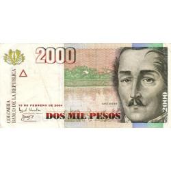 Colombie - Pick 451i - 2'000 pesos - 19/02/2004 - Etat : TB+