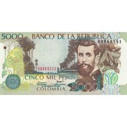 Colombie - Pick 452j - 5'000 pesos - 31/08/2008 - Etat : NEUF