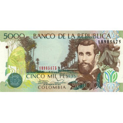 Colombie - Pick 452n - 5'000 pesos - 20/08/2012 - Etat : NEUF