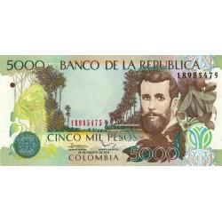 Colombie - Pick 452n - 5'000 pesos - 2012 - Etat : NEUF