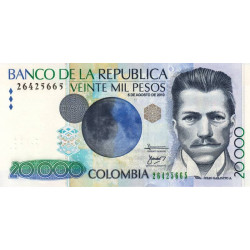 Colombie - Pick 454 - 20'000 pesos - 05/08/2010 - Etat : NEUF
