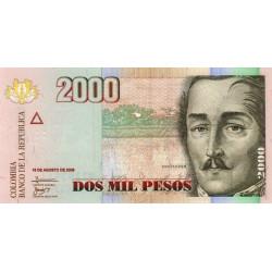 Colombie - Pick 457j - 2'000 pesos - 19/08/2009 - Etat : NEUF