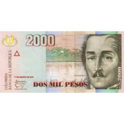 Colombie - Pick 457q - 2'000 pesos - 07/08/2012 - Etat : NEUF