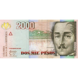 Colombie - Pick 457q - 2'000 pesos - 2012 - Etat : NEUF