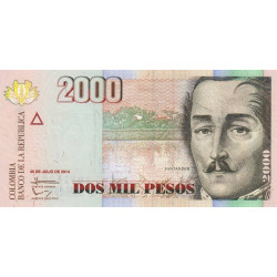 Colombie - Pick 457t - 2'000 pesos - 2014 - Etat : NEUF