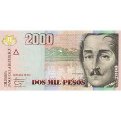 Colombie - Pick 457t - 2'000 pesos - 30/072014 - Etat : NEUF