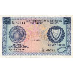 Chypre - Pick 41c - 250 mils - 01/06/1979 - Etat : TB+
