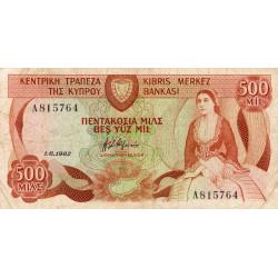 Chypre - Pick 45 - 500 mils - 01/06/1982 - Etat : TB