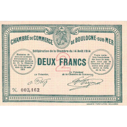 Boulogne-sur-Mer - Pirot 31-7 - 2 francs - Etat : NEUF