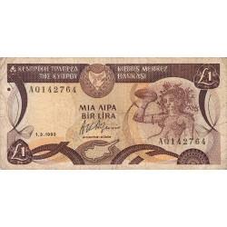 Chypre - Pick 53c_1 - 1 livre - 01/03/1993 - Etat : TB