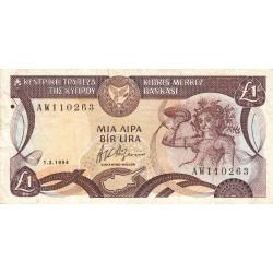 Chypre - Pick 53c_2 - 1 livre - 01/03/1994 - Etat : TB+
