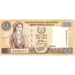 Chypre - Pick 60a - 1 livre - 01/10/1997 - Etat : SUP