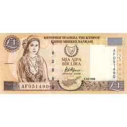 Chypre - Pick 60b - 1 livre - 01/12/1998 - Etat : TTB