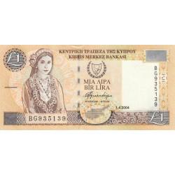 Chypre - Pick 60d - 1 livre - 01/04/2004 - Etat : pr. NEUF