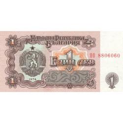 Bulgarie - Pick 93b - 1 lev - 1974 - Etat : SPL