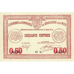 Boulogne-sur-Mer - Pirot 31-14 - Série C1 - 50 centimes - 14/08/1914 - Etat : SUP à SPL