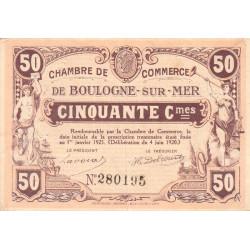 Boulogne-sur-Mer - Pirot 31-29 - 50 centimes - 04/06/1920 - Etat : TTB+
