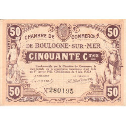 Boulogne-sur-Mer - Pirot 31-29 - 50 centimes - 1920 - Etat : TTB+