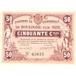 Boulogne-sur-Mer - Pirot 31-26a - 50 centimes - 1920 - Etat : SUP+