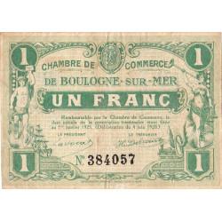 Boulogne-sur-Mer - Pirot 31-30 - 1 franc - 1920 - Etat : TB