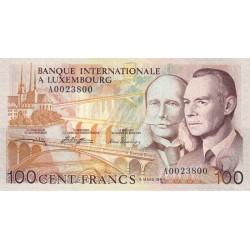 Luxembourg - Pick 14A - 100 francs - 08/03/1981 - Etat : pr.NEUF